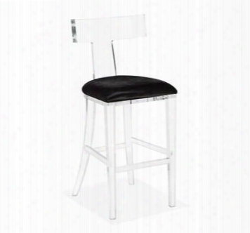 Tristan Barstool In Black Hide Design By Interlude Home