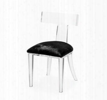 Tristan Klismos Black Hide Chair Design By Interlude Home