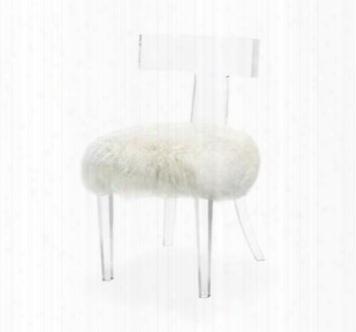 Tristan Klismos Sheep Skin Ivory Chair Design By Interlude Home