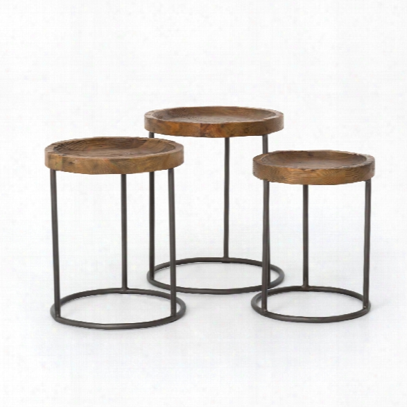 Tristan Nesting Tables In Waxed Bleached Pine