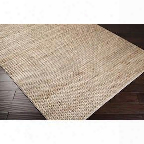 Tropics Collection Jute Area Rug In Biscotti Design By Surya