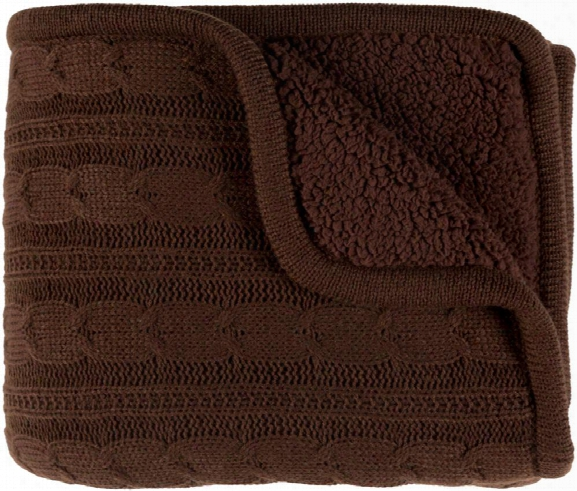 Tucker Throw Blankets In Dark Brown Color By Surya