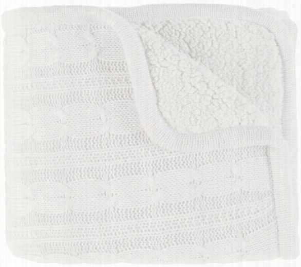 Tucker Throw Blankets In White Color By Surya