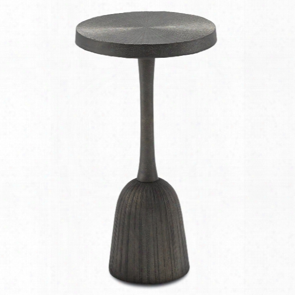Tulee Accent Table In Antique Black Design By Currey & Company