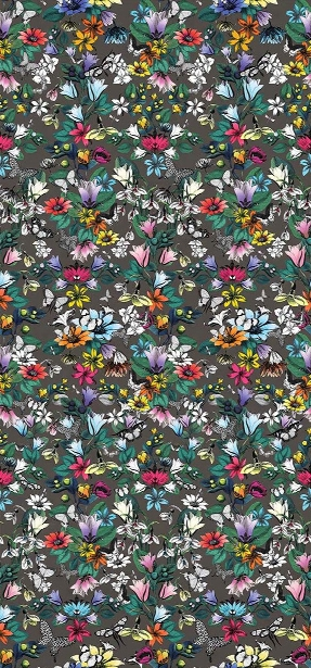 Tulipan Wallpaper In Multi And Cacao From The Pasha Collection By Osborne & Little