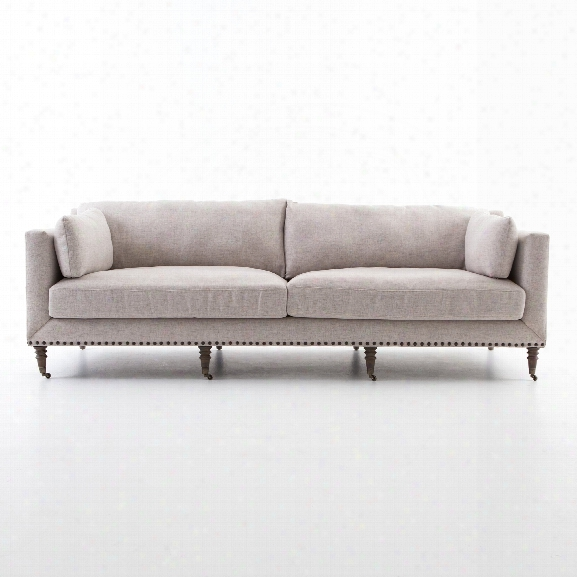 Turned Leg Sofa In Axis Stone