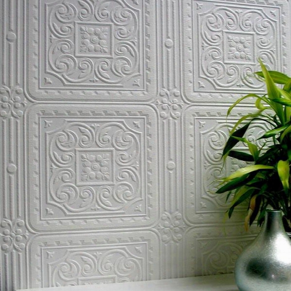 Turner Tile Paintable Textured Wallpaper Design By Brewster Close Fashions