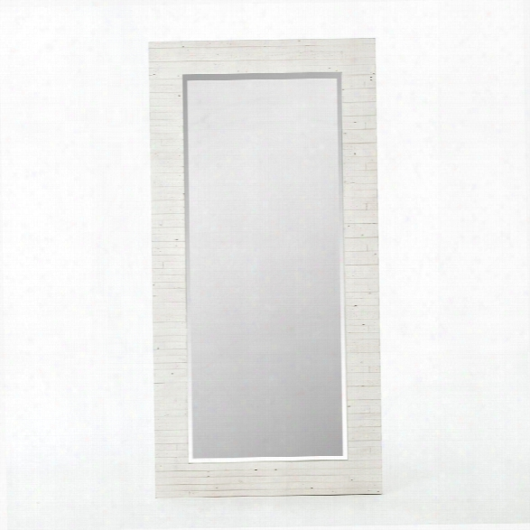 Tuscanspring Floor Mirror In Limestone White
