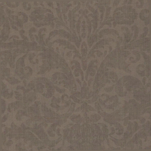 Twill Brown Damask Wallpaper From The Beyond Basics Collection By Brewster Home Fashions