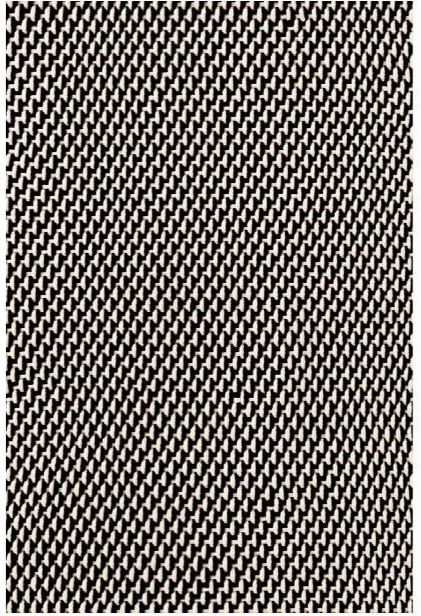 Two-tone Rope Black & Ivory Indoor/outdoor Rug Design By Dash & Albert