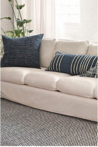 Two-tone Rope Navy & Ivory Indoor/outdoor Rug Design By Dash & Albert