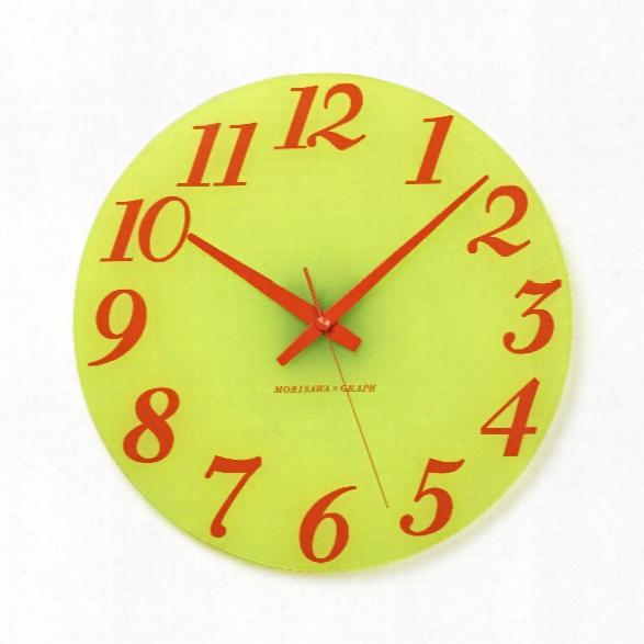 Type Maru Clock In Orange Design By Lemnos