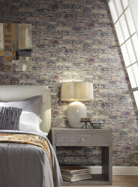 Up The Wall Wallpaper In Blue And Purple Design By York Wallcoverings