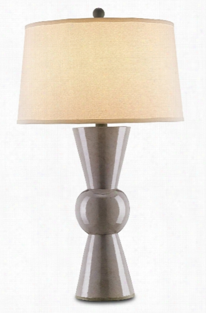 Upbeat Table Lamp In Grey Design By Currey & Company