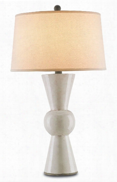 Upbeat Table Lamp In White Design By Currey & Company
