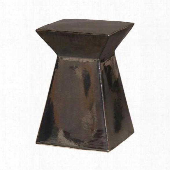 Upright Garden Stool In Metallic Black Design By Emissary