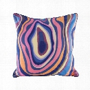 Vibrant Agate Pillow w/ Goose Down Insert design by Lazy Susan