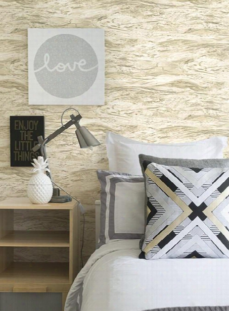Utopia Wallpaper In Pearlescent Beige Design By Carey Lind For York Wallcoverings