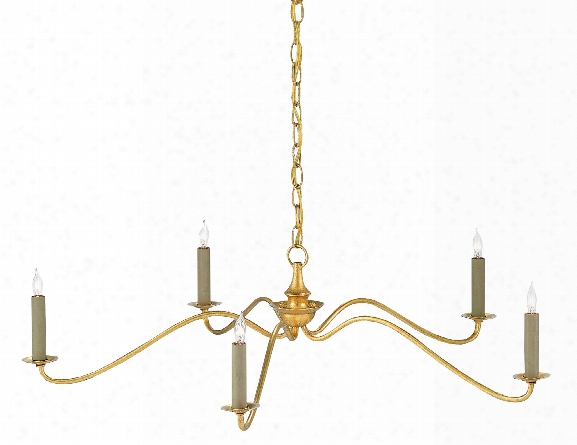 Valais Chandelier In Contemporary Gold Leaf Design By Currey & Company