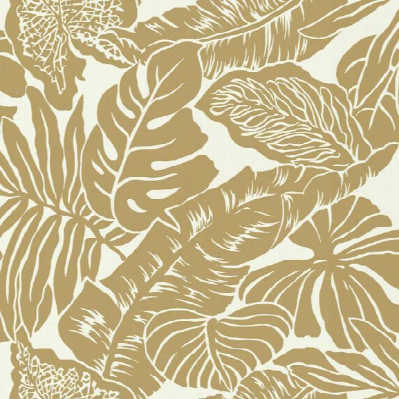 Valdivian Wallpaper In Gold From The Ashford Whites Collection By York Wallcoverings