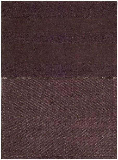 Vale Wool And Viscose Area Rug In Burgundy Design By Calvin Klein Home