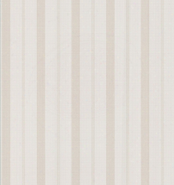 Varied Stripe Wallpaper In Beige By Brewster Home Fashions