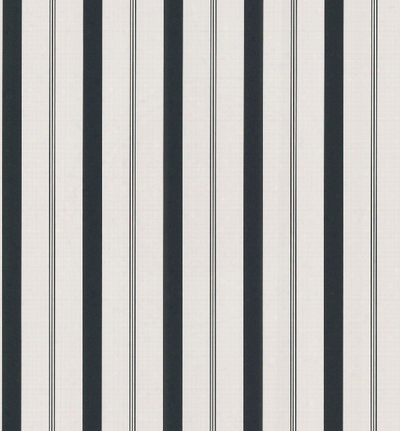 Varied Stripe Wallpaper In Black And White By Brewster Home Fashions