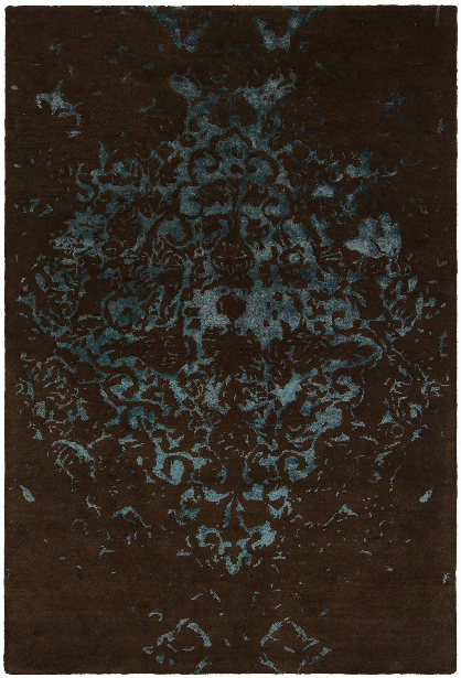 Veleno Collection Hand-tufted Area Rug In Brown & Teal Design By Chandra Rugs