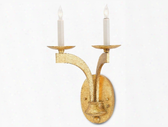Venus Wall Sconce In Antique Gold Leaf Design By Currey & Company