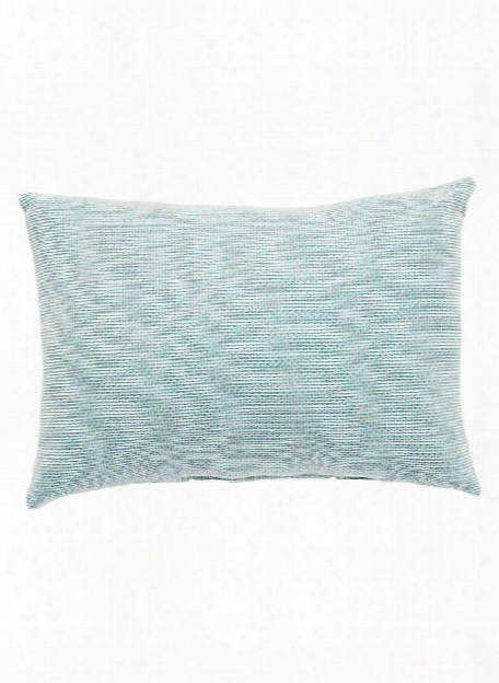 Veranda Pillow In Canal Blue & Turtledove Design By Jaipur