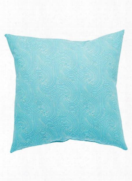 Veranda Pillow In Capri & Snow White Design By Jaipur