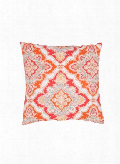 Veranda Pillow In Cloud Dancer & Bittersweet Design By Jaipur