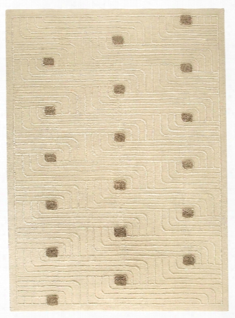 Verona Collection Hand Woven Wool And Viscose Area Rug In White Design By Mat The Basics