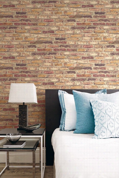 Vintage Brick Wallpaper In Red From Teh Vintage Home 2 Collection By Wallquest