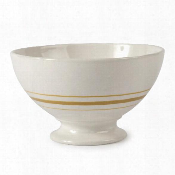 Vintage Stripe Au Lait Bowls In Yellow Design By Sir/madam