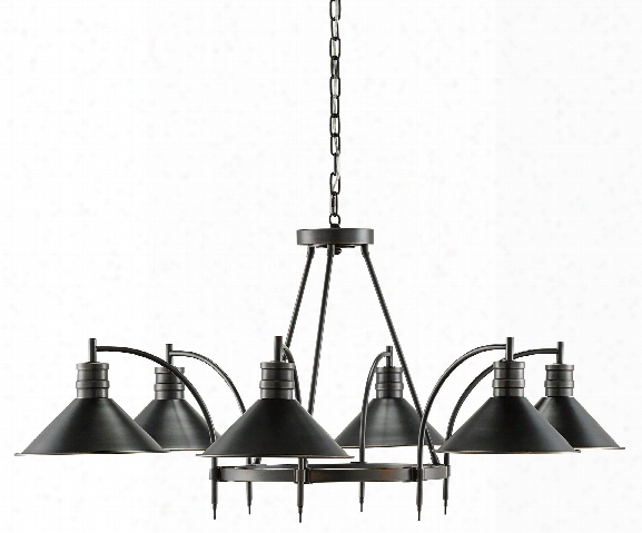 Vito Chandelier In Black Design By Currey & Company