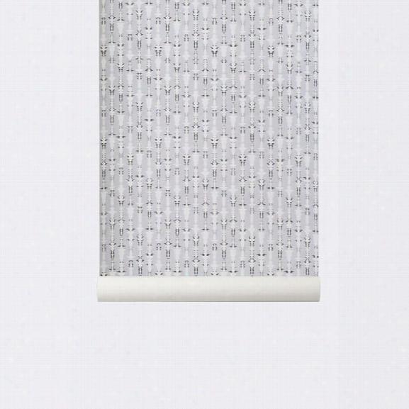 Vivid Wallpaper In Grey Design By Ferm Living