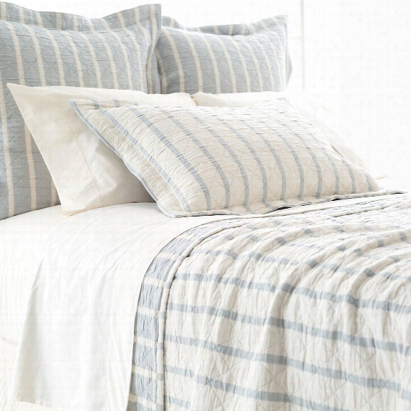 Wainscott Sky Reversible Matelassã© Bedding Design By Pine Cone Hill