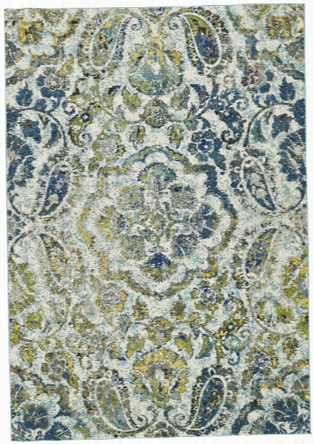 Watercolor Collection Power Loomed Polypropylene Area Rug In Azure Design By Bd Fine