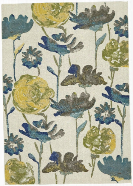 Watercolor Collection Power Loomed Polypropylene Area Rug In Meadow Design By Bd Fine