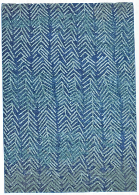 Watercolor Collection Power Loomed Polypropylene Area Rug In Pacific Design By Bd Fine