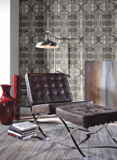 Wavelength Wallpaper In Black And Grey Design By Carey Lind For York Wallcoverings