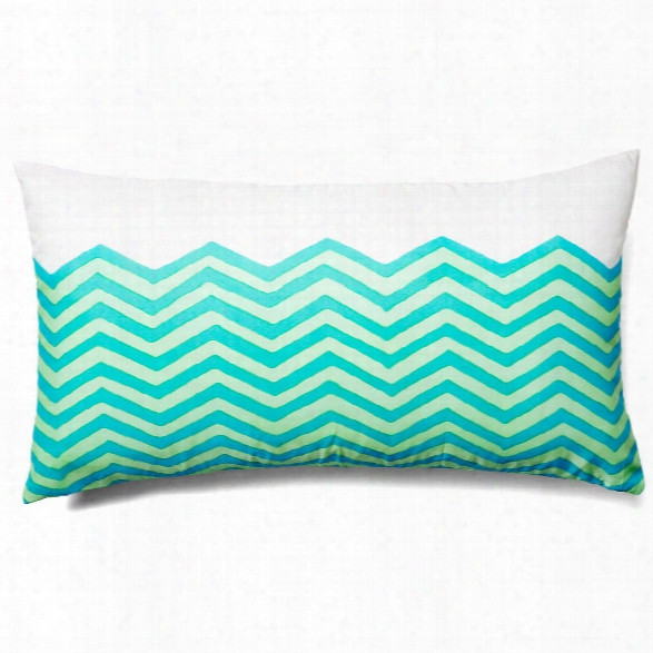 Waves Sky Lumbar Outdoor Pillow Design By Allem Studio