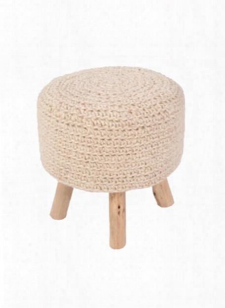 Westport Pouf In Bleached Sand Design By Jaipur