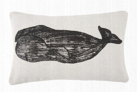 Whale & Stripe Sketch Grain Sack Pillow Design By Thomas Paul