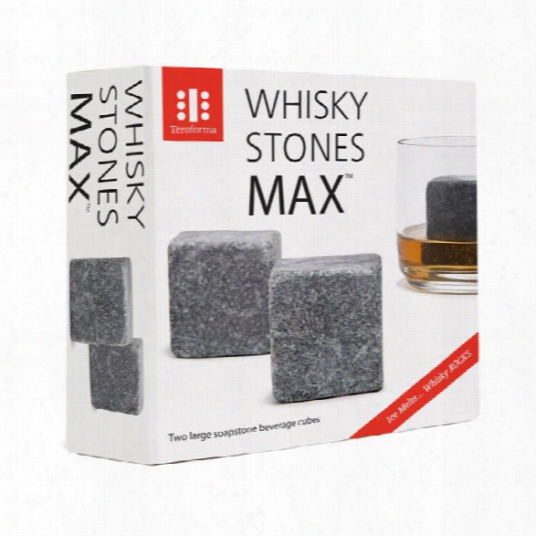 Whiskey Rocks Max Set Of 2 Whiskey Stones Design By Teroforma