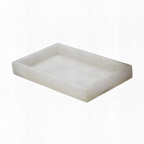 White Alabaster Vanity Tray Design By Lazy Susan