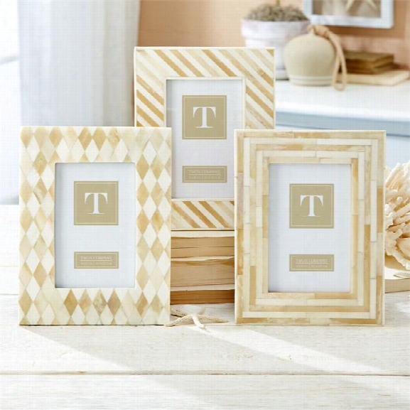 White Bone Picture Frame In Various Designs Design By Twos Company