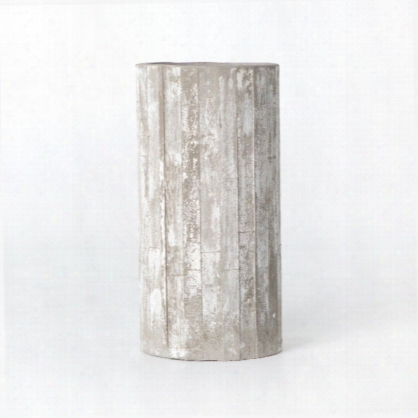 White Washed Tall Planter
