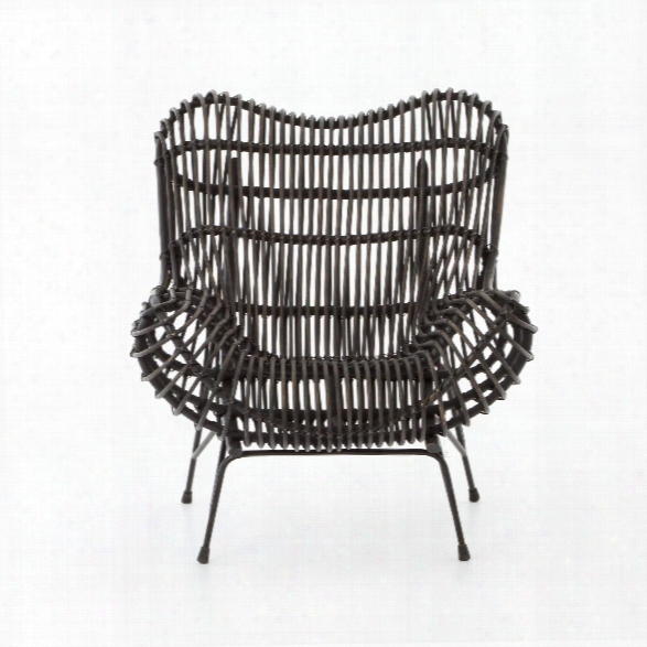 Wicker Occasional Chair In Black